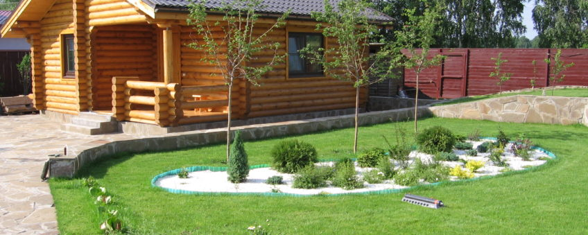 ландшафтный дизайн коттеджа: газон
