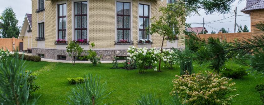 Ландшафтный дизайн бизнес-класса: газон