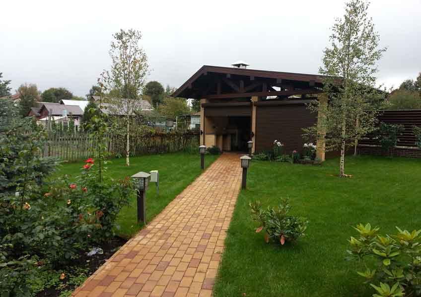 озеленение участка 12 соток: газон, мощение дорожек