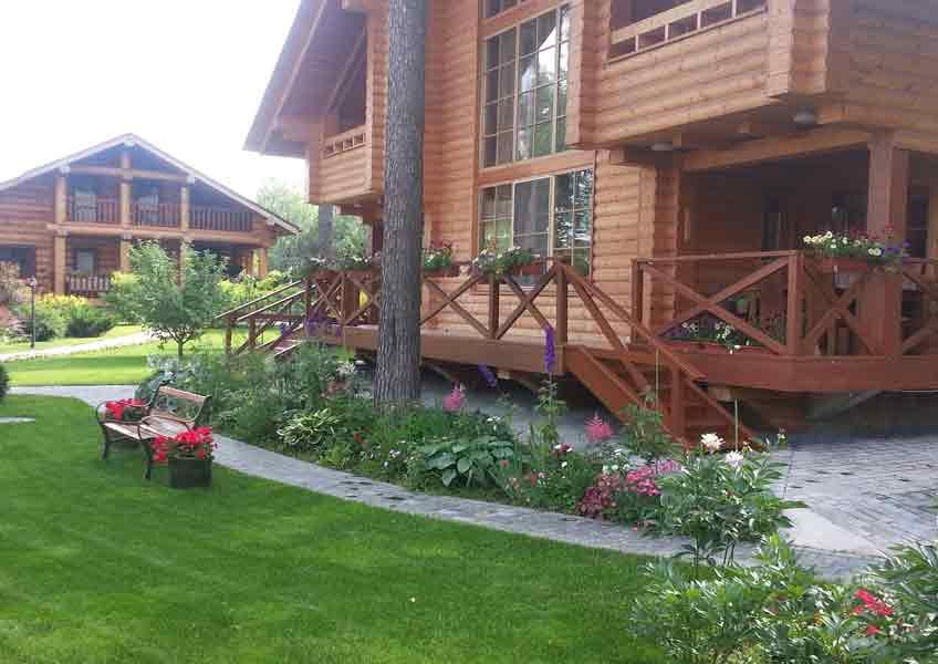 ландшафтные работы в загородном доме