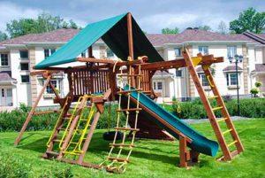 спортивная площадка. работа выполнена компанией Русский парк