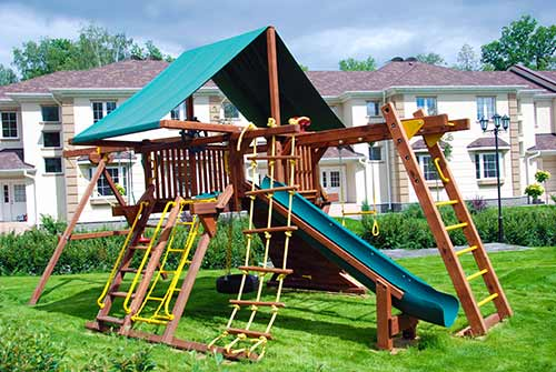 детская игровая площадка. обустройство поселка от компании Русский парк