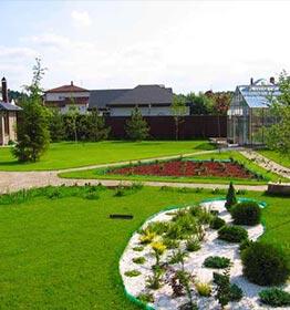 ландшафтный дизайн дачи от компании Русский парк